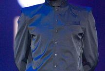 AAm_001 Пиджак-сутана мужской роза/спине черный/черный
