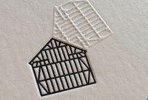 Gaufrage - design graphique technique / Design graphique - graphic design - impression - print - gauffrer - relief - texture