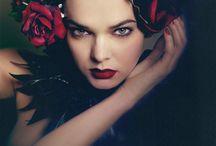 flower fashion editorial