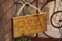 Backyard Entrance / wood signs, home decor, vintage