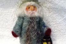Felted Christmas figure