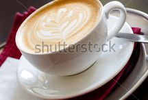Coffee / Coffee, late, coffee art, cappuccino, kafe. drink, espresso pictures. coffee beans, dollar, signs