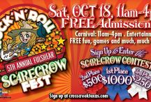 5th Annual Fulshear Scarecrow Fest / You're invited! Live music, an all-new Carnival and food trucks, apple bobbing, face painting, pumpkin decorating, and more! You won't want to miss out on the 5th Annual Fulshear Scarecrow Fest happening at Cross Creek Ranch from 11 a.m. to 4 p.m. on Saturday, October 18! While you're here, vote for your favorite creative, full-size scarecrow! http://www.crosscreektexas.com/scf2014