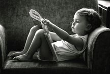 absorbed in a book