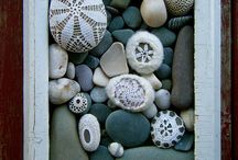 pebble art / art and craft with pebbles and stones