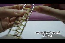 tejer con la u metalica y ganchillo