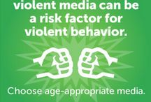 Violence in the Media / If you think there's a lot of violence in your kids' movies, games, and TV shows, you're right. While studies show watching violent images can lead to aggressive behavior and other negative results, parents can help ease the impact. Our advice can help . / by Common Sense Media