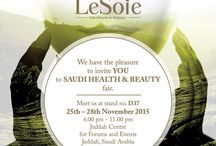 Saudi Helth & Beauty in Jeddah / Discover unique natural cosmetics of LeSoie. Visit stand D37 during Saudi Helth & Beauty in Jeddah. For guest is waiting شيماء وليد EXPERT MUA Enjoy a perfectly beautiful skin, get free samples & vouchers with amazing discounts to LeSoie shop. 25th - 28th November. Jeddah Centre.