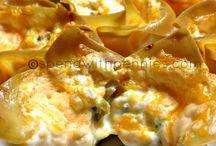 Appetizers / Won ton wrapper snacks - easy