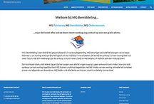 Webdesign / Hier vind u de door mij gemaakte websites