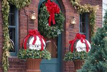 Welcome / mostly wreathes~~ to include front porch & entry ways / by Angela Vorkapich Yonker
