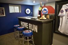 MLB Baseball Man Cave Decor / The Man Cave is a statement about who you are and what you enjoy. It's YOUR space, YOUR stuff and YOUR friends. It's YOUR kingdom.  For more MLB Man Cave Decor ideas & inspirations, check out: http://mancavekingdom.com/category/mlb-man-cave-decor.html
