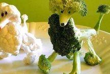 Vege men made out of vegetables