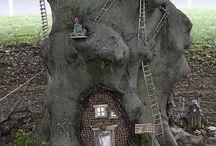Fairy houses  ,fairy gardens  duendes houses