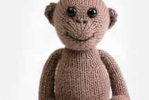 """Royal Petites Baby Knit Kits / Knit a whole menagerie of adorable baby African animals! All the yarn & notions you need to make each one are included in the kits (all you need to supply is your creativity and the needles!). Animals are 4.75"""" tall when seated. Each kit is suitable for advanced beginner knitters. / by Blue Sky Alpacas Yarn"""