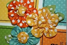 Fabric Flowers, many applications