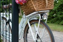 お花と自転車