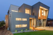 Exterior Home Design Finishes / There is an abundance of quality products available on the market to clad your home.  From renders, panels, stone, tiles, hardwood and many other innovative products that withstand the harsh Australian climate while exuding visual appeal.