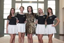 2015 Models,  MonteCarlo Bay / Lorena Baricalla in Monte-Carlo Bay Hotel & Resort with the WSLA models waiting to go to the official launch of the Monaco World Sports Legends Award - WSLA at SPORTEL OFFICIEL