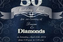 denim birthday invitation