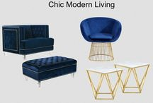 Chic &  Modern Living! - Meridian Furniture / Chic and Modern living with Meridian Furniture's latest styles!  Blue Velvet furniture -