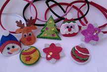 Diademas Navidad / Diademas Navidad con diferentes formas y colores, muy divertidas www.kukimonas.com