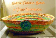 batik fabric basket