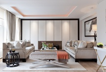 project : LOWNDES SQ. / This three bed apartment in the heart of Knightsbridge was refurbished to a luxury hotel standard with a bespoke timber panelled family room and a stunning master suit clad in marble | Luxury interior design