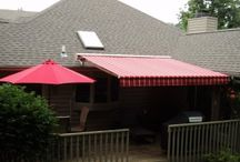 Retractable awning / Retractable Awnings don't just add beauty and space to your home, they also add equity your covered outdoor space increases living area and value.  / by AlekoAwning