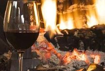 Cozy / A place for all things cozy.... a fire blazing with a glass of wine or in your favorite comfy socks with a cup of coffee reading a book.