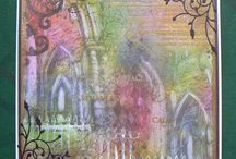 Cards - Inky Painty Pastelly loveliness / All things gorgeously colourful