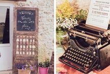 Mariage // Plan de table // Marque place // Menu