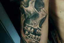 My works / Horror scary art tattoo