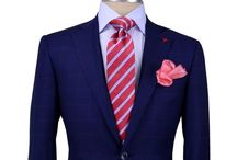 0 solid navy suit