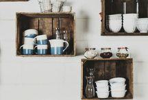 Rustic kitchen shelves / Rustic kitchen