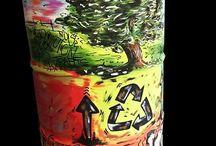 Riciclo Fusto olio / Un fusto di olio motore trasformato in un opera d'arte dall'artista aquilano Daniele Gottastia. Questo è il nostro messaggio..