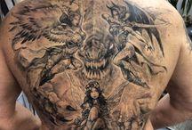 tattoos by Igor Kononov / instagram @kononart