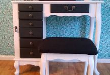 Painted Furniture-Vanity / This board features refinished vanities that I have completed. / by Christina Deras