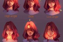 gezichten tekenen