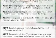 WEDDING GUIDE / Some tip to make your wedding prep friendlier