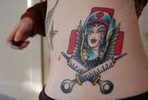 Nurse tattoos / #RN #Nurse #Nursing #Tattoo #Tattoos #Tattooed #Skinart #Tat #Tattooart #Art #Design #Tattoodesign #Tatooisme #Tattooism