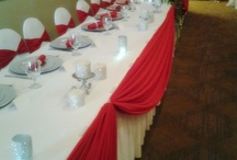 RED with Crystals - Wedding Decor / Dr. Dacia's wedding, port st.lucie florida, Tradition town center