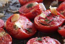 fırında sarımsaklı domates
