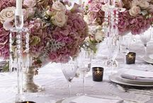 Tablescapes and Table Settings / Beautiful china, lovely flowers, exquisite crystal, gleaming silver: it's all here with color and elegance for your table.