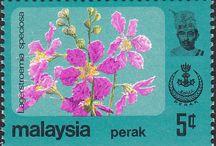 Malaya - Perak Stemps