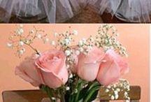 Flores y tul