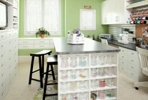 SEWING & CRAFT ROOM IDEAS  / by Linda Steaples