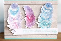 cards with feathers
