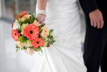 Bridal Bouquets Orange Shades