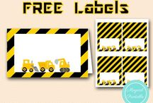 Construction party / Mostly free templates Cute party game Ideas